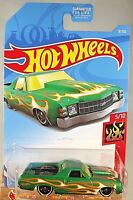 2019 Hot Wheels #8 HW Flames 5/10 '71 El CAMINO Green w/Black St8 Spoke Wheels