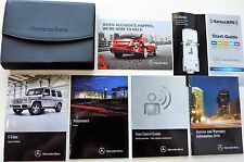 ORIGINAL 2016 MERCEDES BENZ G-CLASS OWNERS MANUAL BOOK SET + LEATHER CASE