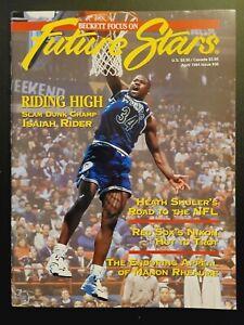 1994 BECKETT FOCUS ON FUTURE STARS MAGAZINE #36 ISAIAH RIDER SLAM DUNK CHAMP