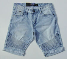 SOUTHPOLE Mens BIKER Moto Distressed Denim Shorts NWT  Dark Sand Blue 18121-3202