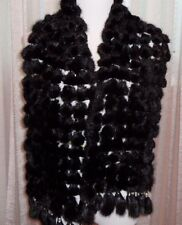 NATURAL FUR BEAUTIFUL FUR BALLS WRAP WITH TUSSLES, PERFECT FOR ALL OCCASIONS