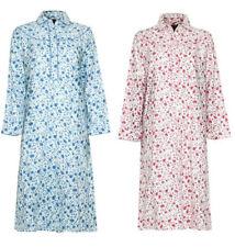 Pijamas y batas de mujer camisón color principal azul 100% algodón