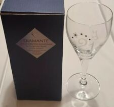 7037c27a8a1 Diamante Hand Crafted Swarovski Pair Of Champagne Flute Glasses NEW