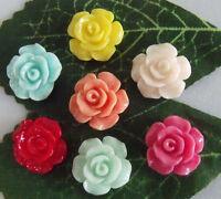 Wholesale 20pcs/70pcs/210pcs Resin mix color flower Flatbacks 13x13mm 2F99