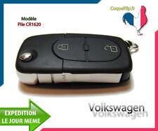 Coque Télécommande Plip 2 Bouton Volkswagen Polo Passat Golf 3 4 5 6 +Clé Vierge
