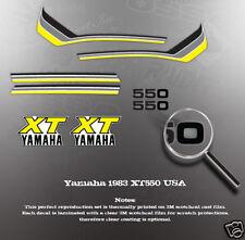 YAMAHA 1983 XT550 DECAL GRAPHIC KIT LIKE NOS