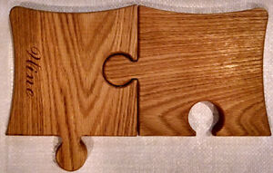 Wine and Cheese Serving/Cutting Boards 2 piece set