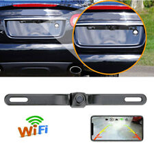 Wireless Wifi Rear Car License Plate Backup Camera Waterproof for Phone Display