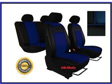 Universal Blue / Black Eco-Leather Full Set Car Seat Covers fit VW Golf Mk3 Mk4