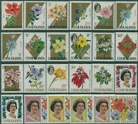 Cook Islands 1967 SG227A-248A Flowers set MNH