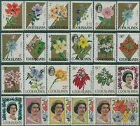 Cook Islands 1967 SG227A-248A Flowers set MNH