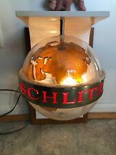 *vintage* 1968 Schlitz Beer Globe, light up sign with rotating globe