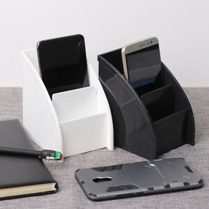 Tabletop Storage Organizer TV Remote Control Holder Stationery Pen Box Container