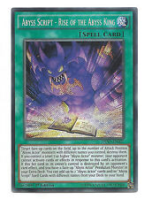 Abyss Script - Rise of the Abyss King DESO-EN027 Secret Yu-Gi-Oh Card 1st Mint