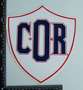 GENUINE VINTAGE COR COMMONWEALTH OIL REFINERIES LOGO ADVERTISING PROMO STICKER