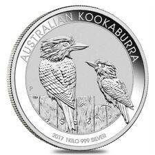 Australian Kookaburra 2017 30 Dollars 1 Kg (32,15 OZ) Argento 999 Silver CAPSULA
