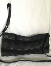 ZARA Black Leather Clutch/Cross Body/Shoulder Bag / Handbag