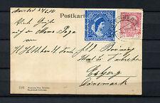 Austria nº 144 EF con vignette Sissi de 1910 (#208)