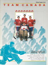 Team Canada - Moscow Select Russia USSR 1986 Series Hockey Matches Program