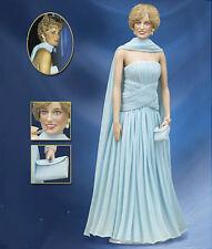 Franklin Mint LE Princess Diana Doll, Blue Chiffon Catherine Walker Gown, NIB