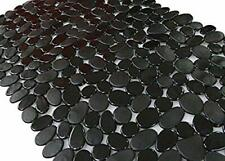 Songziming Non-Slip Pebble Bathtub Mat Black 16 W x 35 L Inches for Smooth/No.