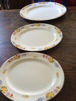 TAMS WARE LONGTON Bouquet Plates Platters Gravy Boat ART DECO Set