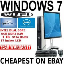 PC de bureau Intel Dual Core Windows 7