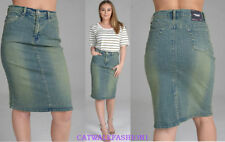 Unbranded Denim Patternless Skirts for Women