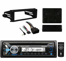 Sony Bluetooth Marine CD USB Radio & 98-2013 Harley Install Dash Install Adapter