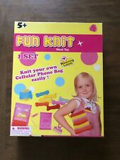 Fun Knit Wool Toy Knit your own Bag/Purse kit with weaving loom Nip