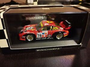 1:43 Minichamps Porsche 911 993 #78 Elf Haberthur 1st GT2 Le Mans 1997 n/Spark