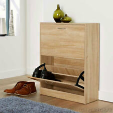 Shoe Storage Cabinet Furniture Wooden Rack Cupboard Shoes Drawer Organiser Unit