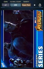 Topps Marvel Collect Avengers Infinity War Concept Children Of Thanos 200cc