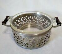 Vintage PYREX Clear Glass Round 1.25 Qt. Casserole Dish & Manning Bowman Server