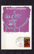 carte  1er jour   la  communication    Paris     1976