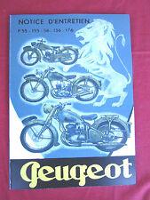 PEUGEOT 125 cc 150 cc  Type P 55,155,56,156,176 & 55 TN   Manuel entretien