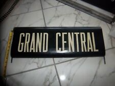NYC SUBWAY SIGN VINTAGE 1960s NY GRAND CENTRAL TERMINAL STATION VELLUM ROLL SIGN
