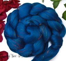 TALISMAN - Wool Roving Signature Custom Blend Merino Silk Bamboo Combed Top 4 oz