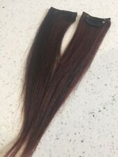 "9"" Clip in Human Hair Extensions Straight streaks #1/33 1.5"" Wide"