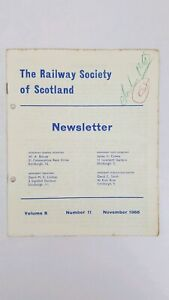 The Railway Society of Scotland - Newsletter - Vol 8 - Number 11 - November 1966