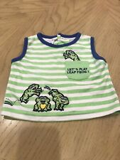 Tiny Tots Baby tank top/sleeveless shirt Size 6/9 months W/Frogs Good Condition