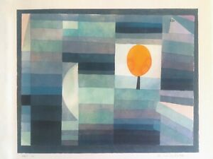 "PAUL KLEE RARE 1969 MODERNIST LITHOGRAPH PRINT "" THE MESSENGER OF AUTUMN "" 1922"