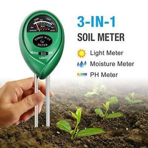 3 in1 Soil PH Tester Water Moisture Light Test Meter Kit For Garden Plant Flower