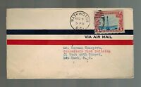1928 Washington DC to New York USA Airmail First Flight Cover