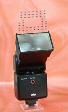 Braun 340 Vario Zoom mit SCA 100 Blitzgerät für verschiedene Kameras  (4656)