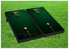 Cornhole Boards Pool/Billiard Table Game Beanbag Toss Game w Bags Set 410