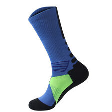 2x Men Women Riding Cycling Sports Socks Unseix Breathable Bicycle Footwear F9p Blue