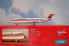 Herpa Wings 1:500 BAC 1-11-500  Hapag Lloyd D-ALFA  528955  Modellairport500
