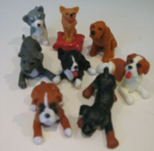 Vintage Milto 1993 Puppy In My Pocket Toy Figure 8 dogs