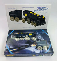BRIO Polar Express Wooden Train Set Motorized Excellent Condition W/ Coal Tender